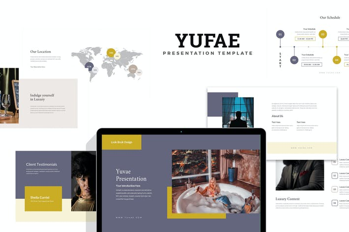 Thumbnail for Yuvae : Luxury Lifestyle Lookbook Powerpoint