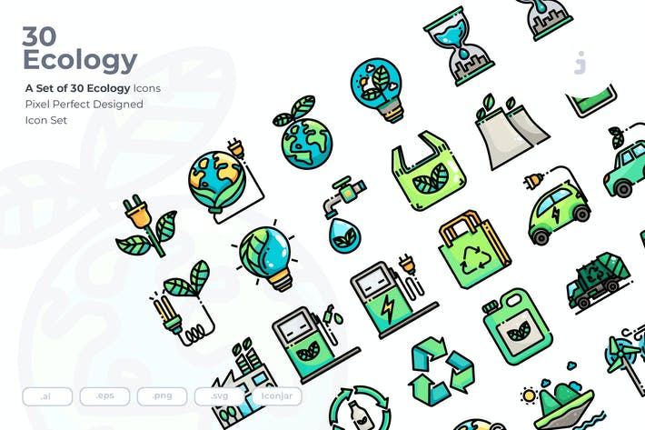 Cover Image For 30 Ecology Icons