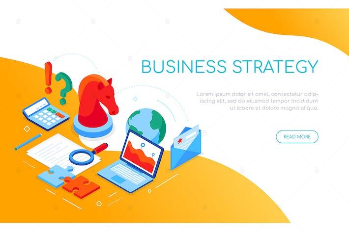 Thumbnail for Business-Strategiekonzept - buntes Banner