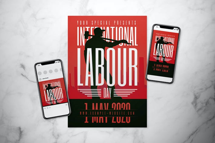 Thumbnail for International Labour Day Flyer Set