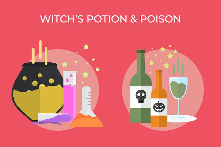 Thumbnail for Witch Potion and Poison - Vector Illustration