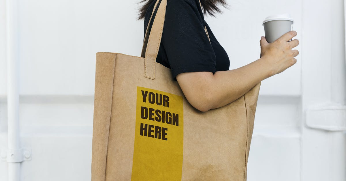 Download Design space on tote bag mockup by Rawpixel