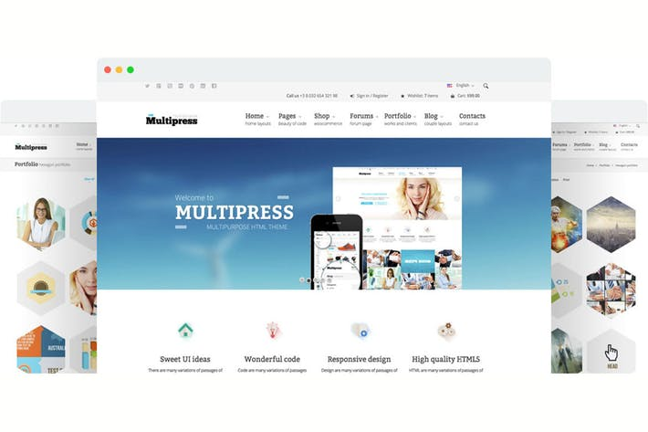 Thumbnail for Multipress - Responsive HTML5 Template