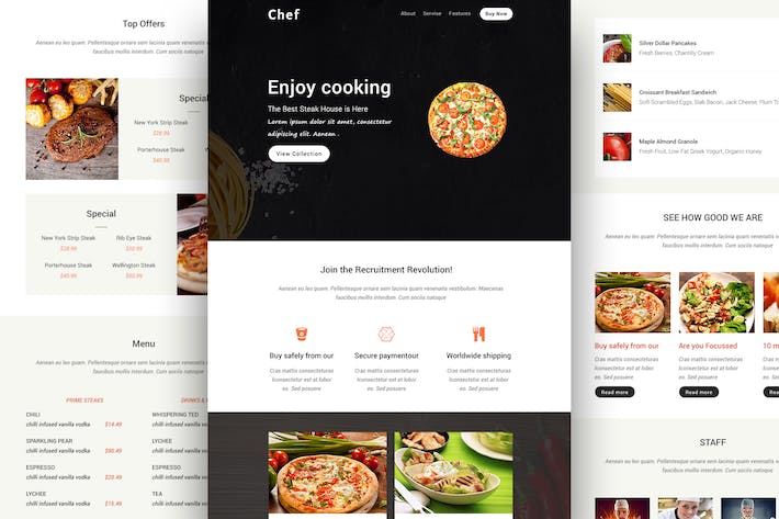 Thumbnail for Chef - Responsive Email Template + Online Builder