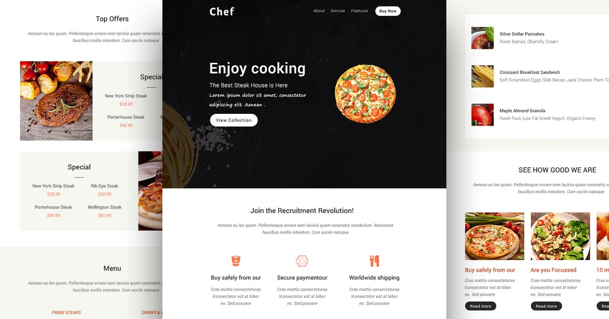 Download Chef - Responsive Email Template + Online Builder by CastelLab