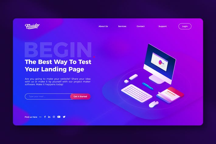 Thumbnail for Modern website hero header template