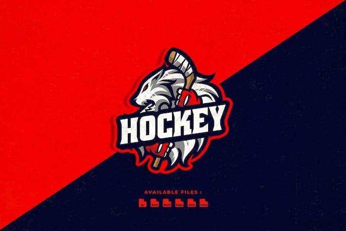 Thumbnail for Hockey Tiger Mascot Logo