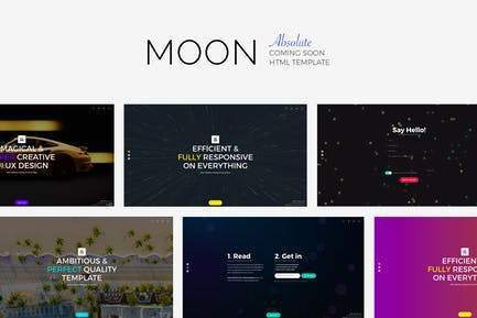 MOON - Absolute Coming Soon Template