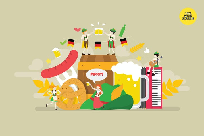 Thumbnail for Oktoberfest Celebration Party Vector Concept