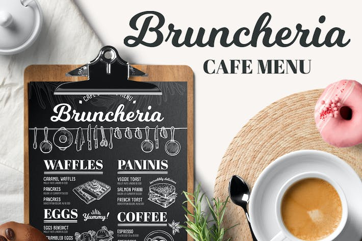 brunch menu template by barcelonadesignshop on envato elements