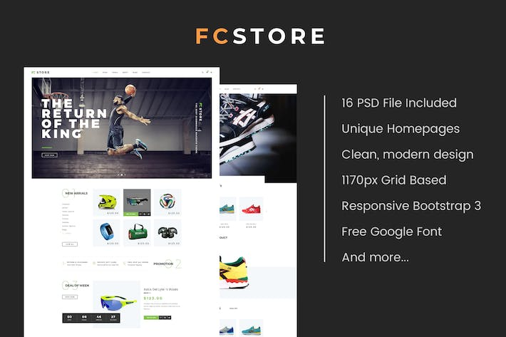 Thumbnail for FCStore - Multipurpose eCommerce PSD Template