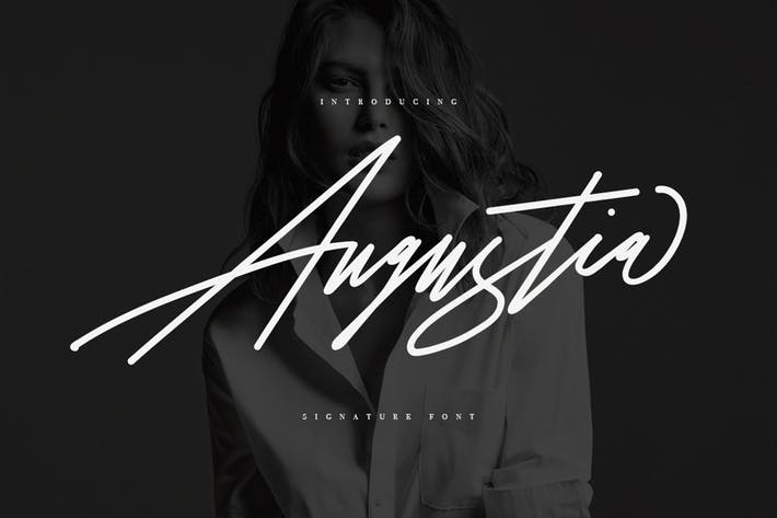 Thumbnail for Augustia Signature Typeface