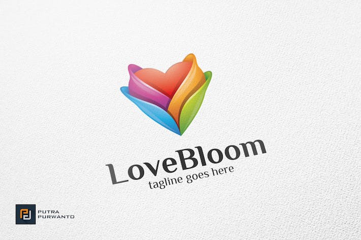 Thumbnail for Love Bloom / Heart - Logo Template