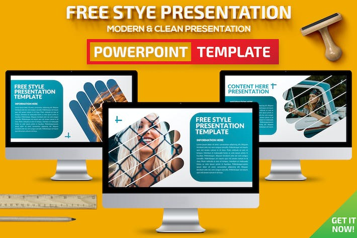 Thumbnail for Free Style Powerpoint Presentation Template