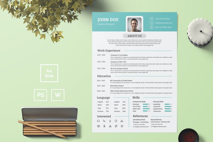 Thumbnail for Resume Template 25