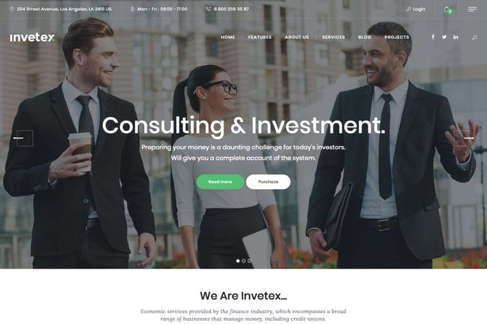 Thumbnail for Invetex   Business Consulting & Investments WP