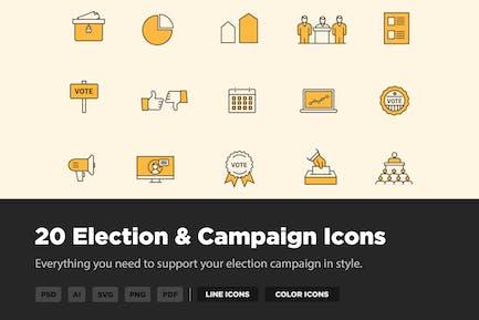 20 Wahl- und KampagnenIcons