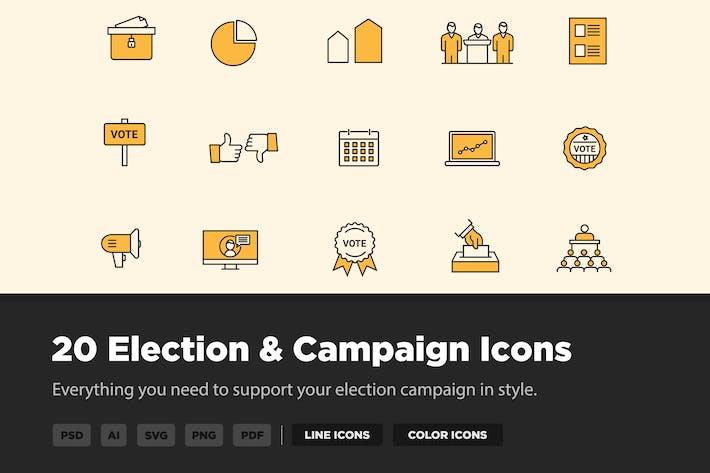20 Icones des élections et de la campagne