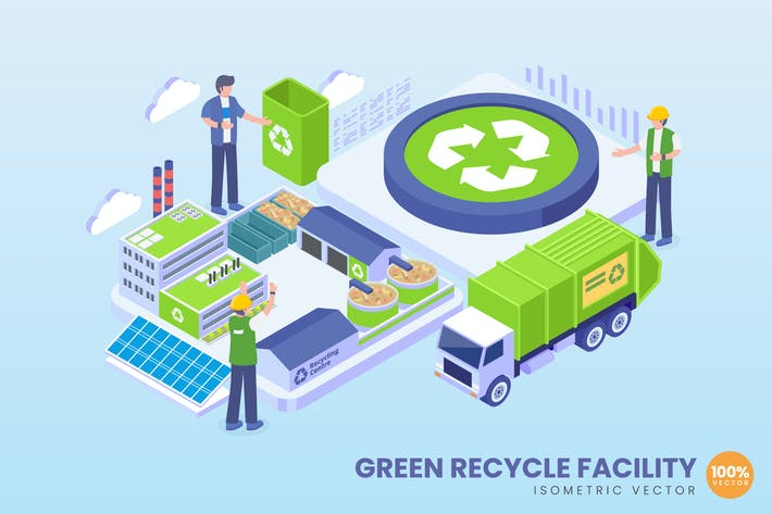 Thumbnail for Isometric Green Recycle Facility Concept