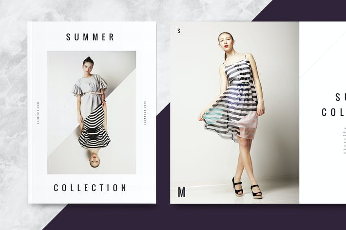 summer collection lookbook by hencework on envato elements. Black Bedroom Furniture Sets. Home Design Ideas