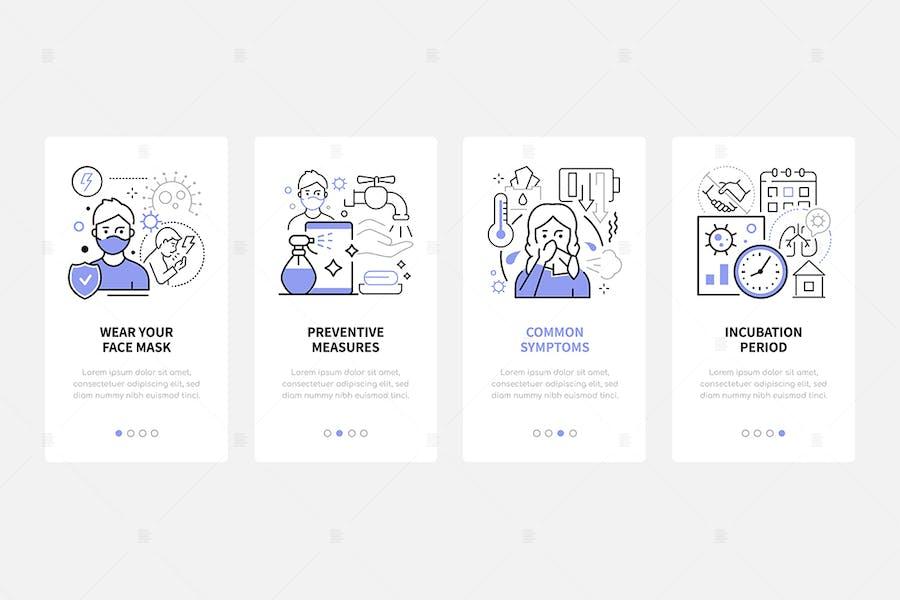 Coronavirus Disease - Line Design Web Banners