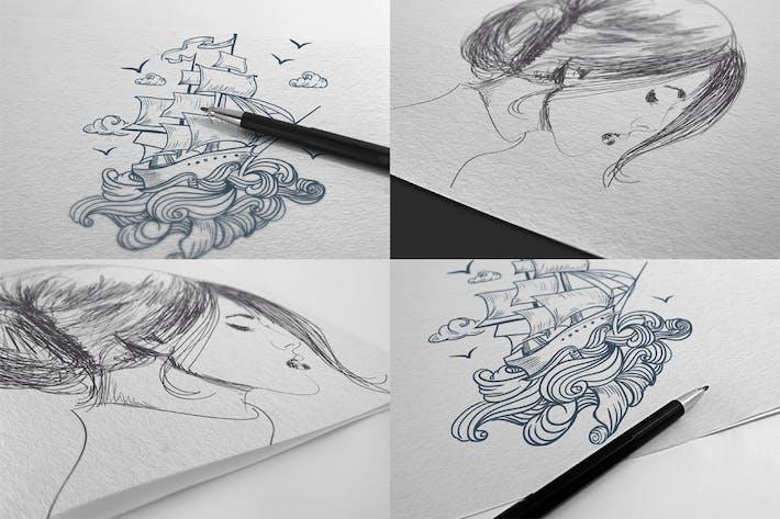 Thumbnail for Maquettes en papier polyvalent