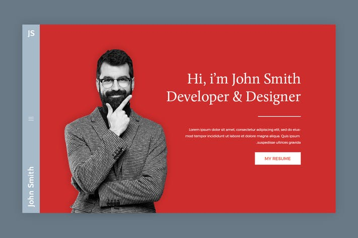 Thumbnail for JS - Personal Web Page PSD Template