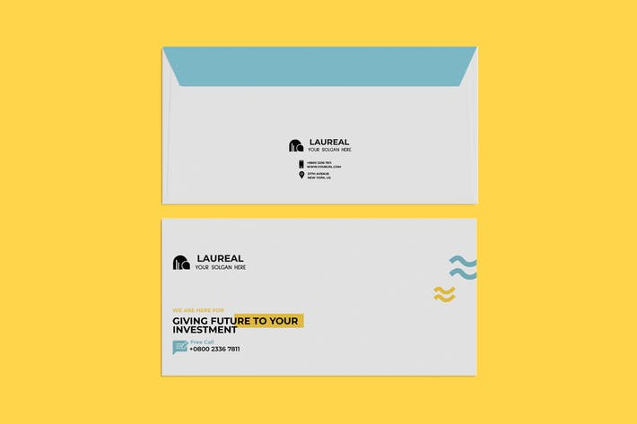 Thumbnail for Corporate, Business Envelope PSD Template