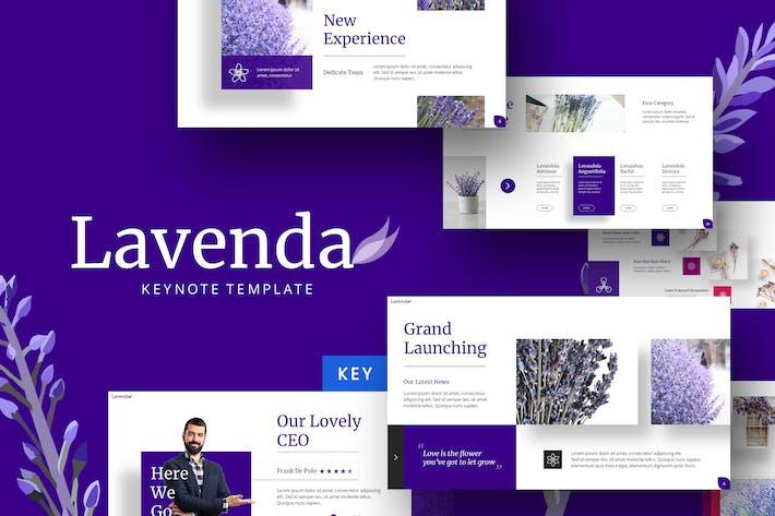 Thumbnail for Lavenda - Flower  Keynote Template