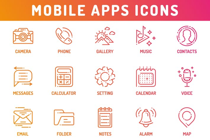 Thumbnail for Mobile Application Icons