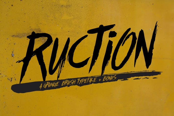 Thumbnail for Ruction Typeface