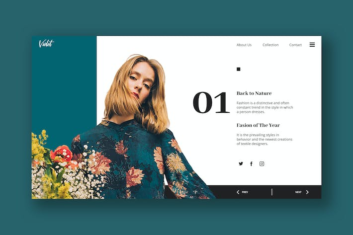 Thumbnail for Fashion Hero Header PSD Template