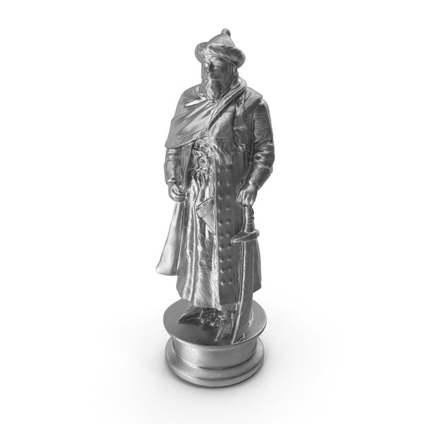 Chess Piece King Silver