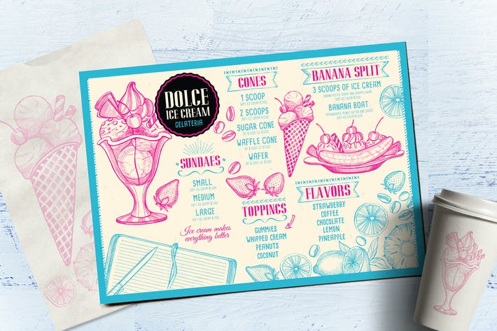 Thumbnail for Ice Cream Menu Template