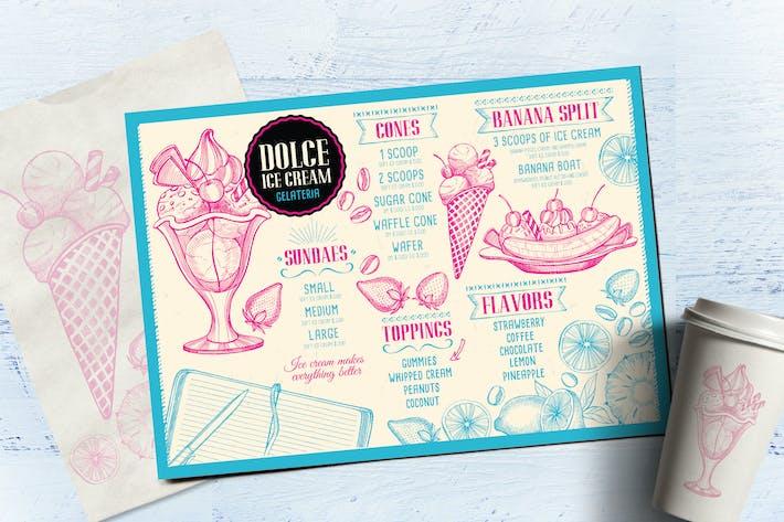 ice cream menu template by barcelonadesignshop on envato elements