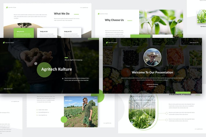 Thumbnail for Agritech - Agriculture Keynote Template