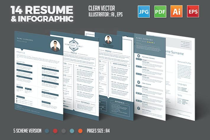Thumbnail for 14 Resume Template Design