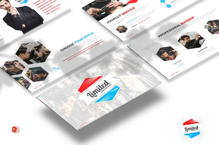 Limited - Barber Shop Powerpoint Template