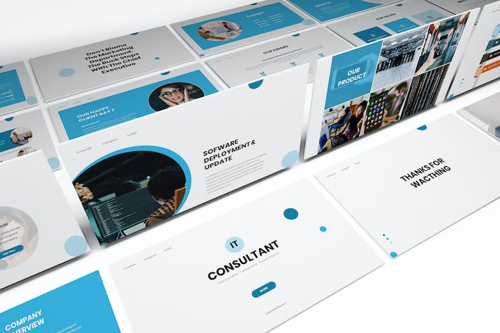 Thumbnail for IT Consultant Powerpoint Template