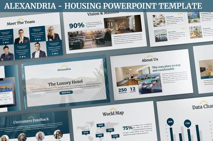 Thumbnail for Alexandria - Housing Powerpoint Template