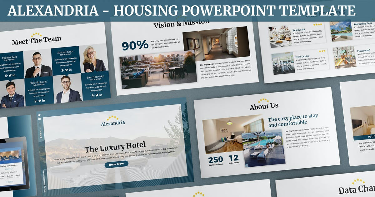 Download Alexandria - Housing Powerpoint Template by SlideFactory