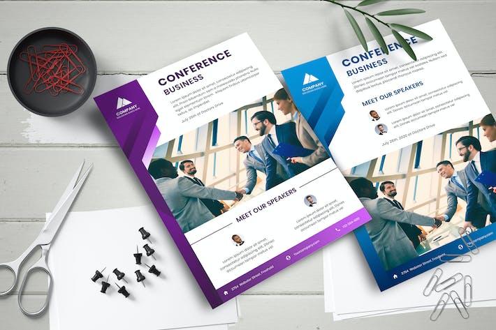 Thumbnail for Modèle de dépliant de conférence d'affaires