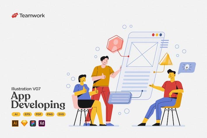 Teamwork - App Developing Presentation Meeting