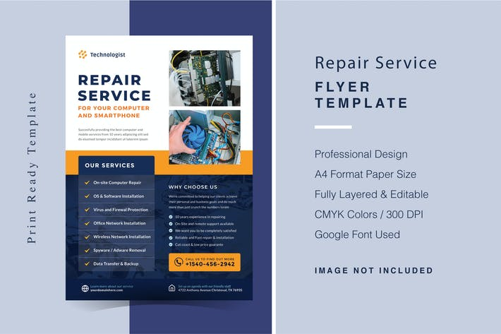 Repair Services Flyer Template