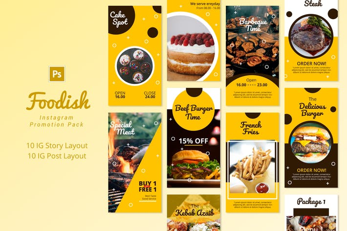 Thumbnail for Foodish - Pacote de Promoção Instagram
