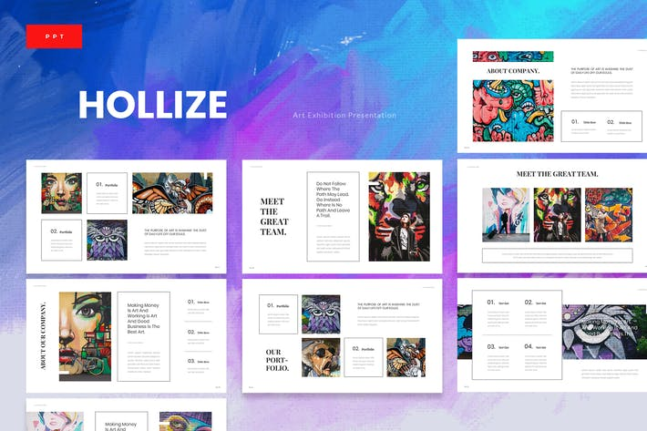 Thumbnail for Hollize - Art Exhibition Powerpoint Template
