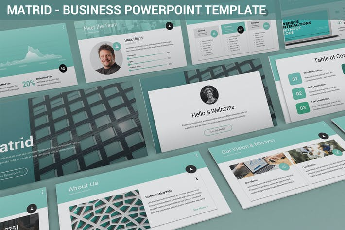 Cover Image For Matrid - Business Powerpoint Template
