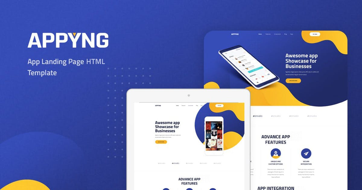 Download Appyng - App Landing Page HTML Template by Layerdrops