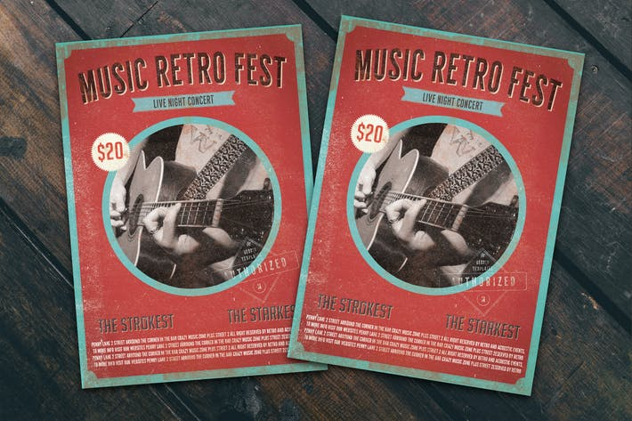 Thumbnail for Music Retro Fest Flyer Poster