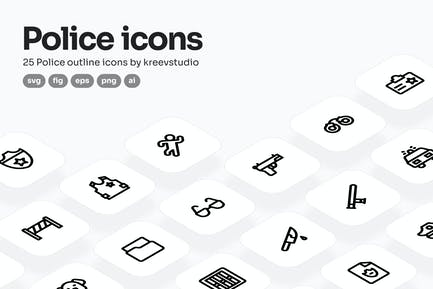 Police Line Icons
